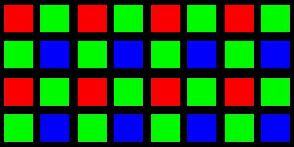 RGGB sensor mosaic