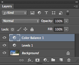 Layer stack in Photoshop