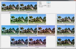Variations command in Photoshop, sadly being phased out in CC 2014.