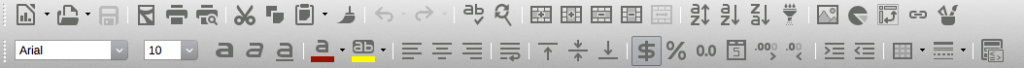 In the new Libre Office interface everything looks the same, and some icons are really, really hard to distinguish.