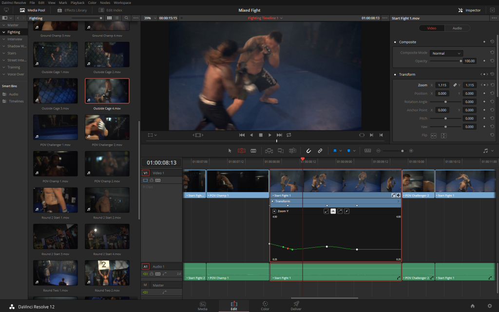 It takes two clicks to get to the keyframe editor, but once you're there, you don't want to go back.