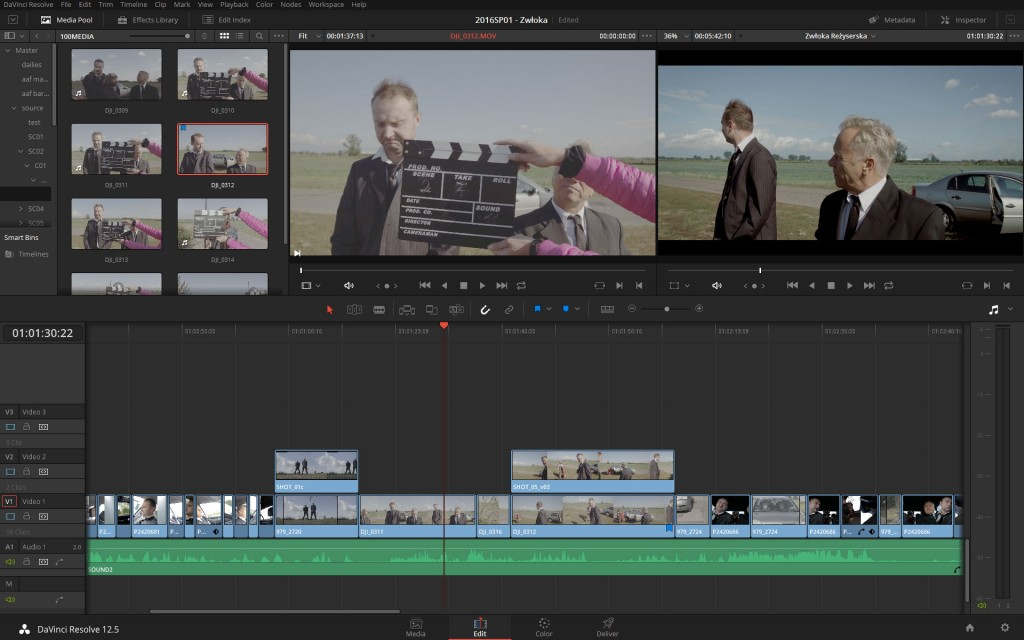 Editing in Resolve 12.5 is a bit smoother than in Resolve 12.0, though still not as fluid as in any other NLE.