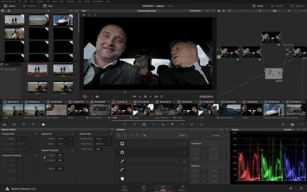 Grading in Resolve has always been and remains one of the more pleasurable parts, especially if you have a control surface such as Tangent Ripple handy.