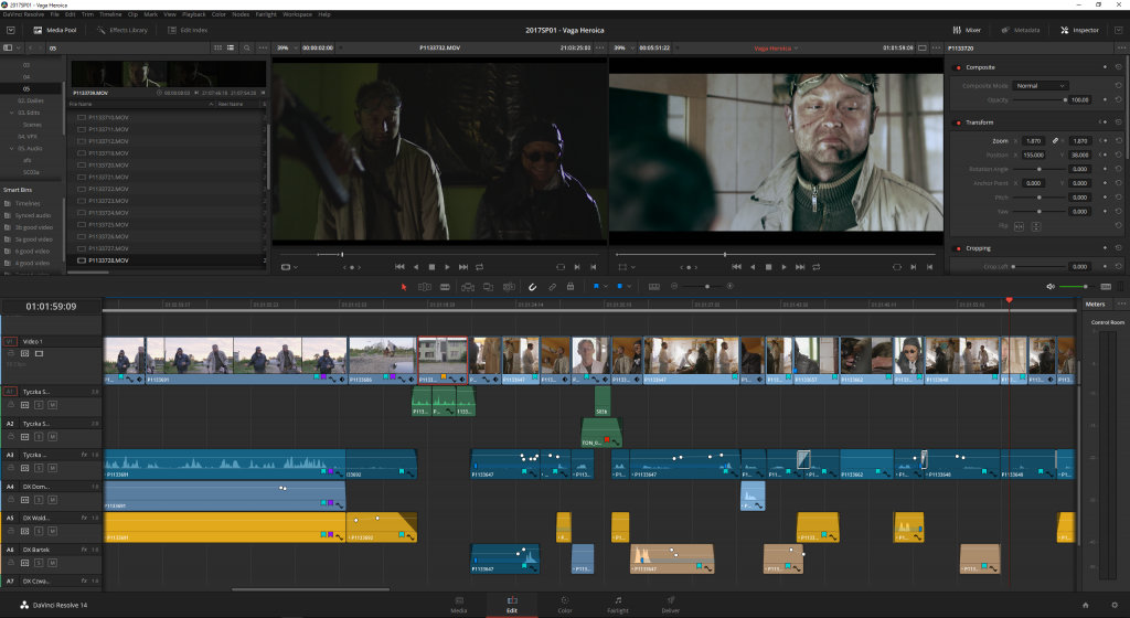 Resolve 14 brings truly NLE-quality editing to this package.