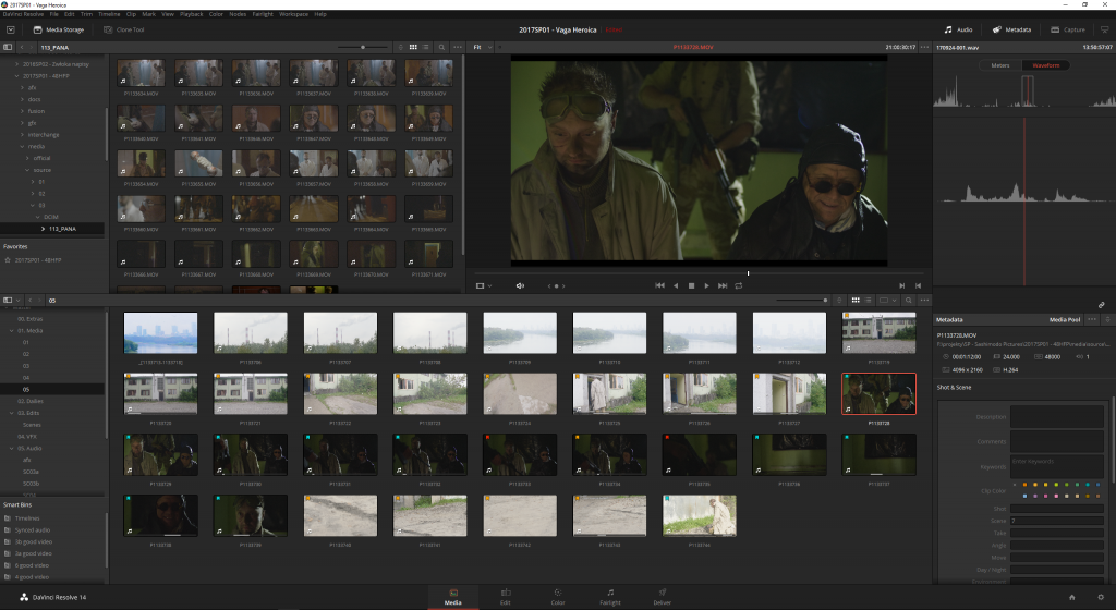Syncing video and sound in Resolve is pretty simple.