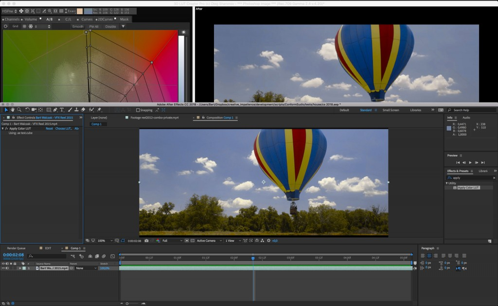 Importing LUTs to After Effects is simple enough.