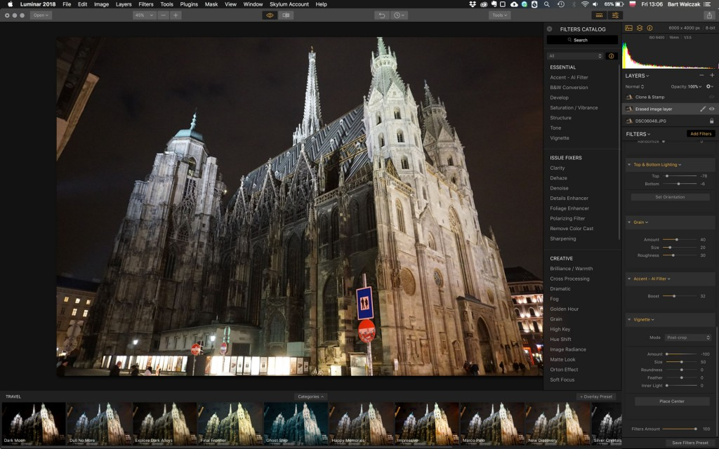 A photo I was playing with it. I'm no photographer, but I was curious where Luminar will take it.