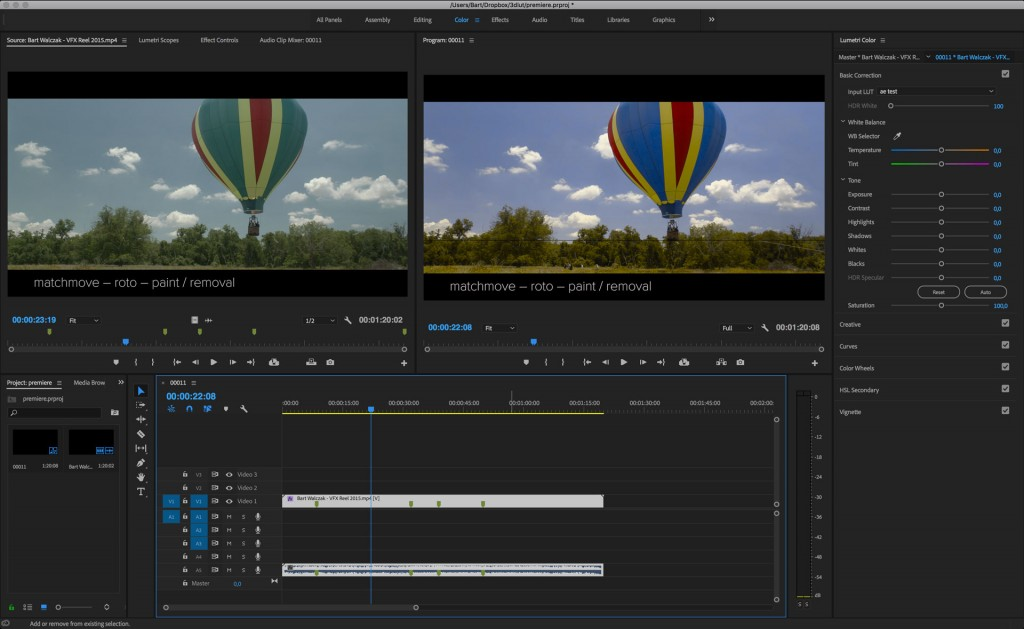 Premiere Pro also accepts LUTs, if you need them.